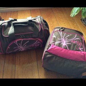 Roxy Duffel Bag and Backpack Pink Surf